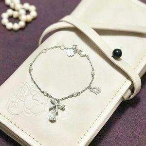 Christian Dior CD cute crystal bow lucky bracelet